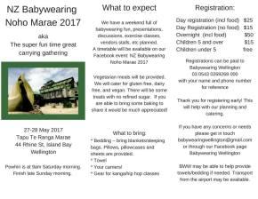 NZ Babywearing Noho Marae2017